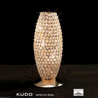 Diyas IL30766 Kos 3 Light Crystal Table Lamp French Gold