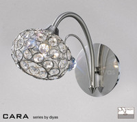 Diyas IL30931 Cara 1 Light Crystal Wall Light Satin Nickel