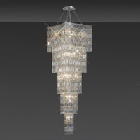 1530645 15 Light Crystal Ceiling Pendant Polished Chrome
