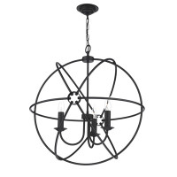 David Hunt  ORB0322 Orb 3 Light Ceiling Pendant Black