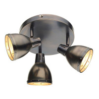 Dar OSA7661 Osaka 3 Light Ceiling Spot Light Antique Chrome