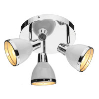 Dar OSA762 Osaka 3 Light Ceiling Spot Light White