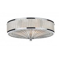 Dar OSL5050 Olso 3 Light Flush Ceiling Light Polished Chrome