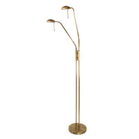 Oaks JUMA-FLAB Juma Twin Headed Floor Lamp Antique Brass