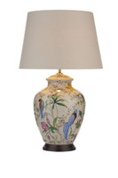 Dar MIM4202 + S1099 Mimosa Table Lamp Pale Cream With Shade