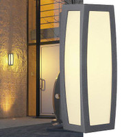 Meridian Box Outdoor Wall Light Anthracite