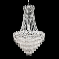 S9116116CC 6 Light Crystal Chandelier Chrome
