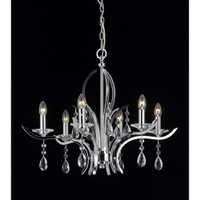 Impex CF911231/06/CH Turin 6 Light Crystal Chandelier