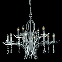 Impex CF911231/08/CH Turin 8 Light Crystal Chandelier