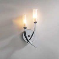 DAR MOR0950 Morgan Twin Wall Light Polished Chrome