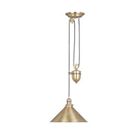 Elstead Provence PV/P AB 1 Light Rise and Fall Pendant Antique Brass