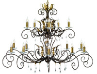 Elstead AML15-BR/GLD Amarilli 15 Light  Chandelier Bronze Gold