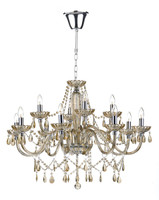 DAR RAP1206 Raphael 12 Light Chandelier Champagne Glass