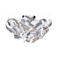 DWAR100450 MEDUSA 4 Light Ceiling Light Brushed Aluminium