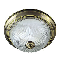 S914370 Flush Ceiling Light Antique Brass