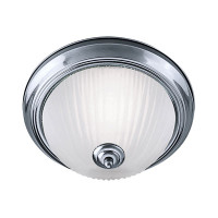 S914042 Flush Ceiling Light Satin Chrome
