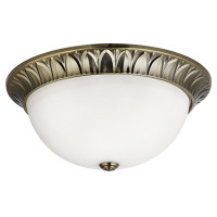 Searchlight 4149-38AB Antique Brass Flush Ceiling Light