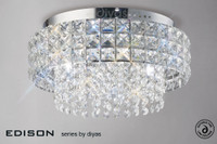 1531150 4 Light Crystal Flush Ceiling Light
