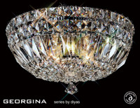 Diyas Il31482 Georgina 5 Light Flush Crystal Ceiling