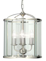 Oaks 351/4 AC Fern Satin Chrome Ceiling Lantern