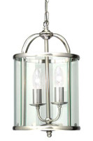 Oaks 351/2 AC Fern Satin Chrome Ceiling Lantern