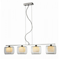 AZzardo 2192-4P Happy 4 Light Pendant Chrome