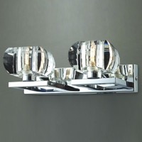 AZzardo 1798-2W Rubic 2 Wall Light Chrome