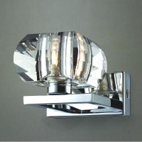 AZzardo 1798-1W Rubic 1 Wall Light Chrome