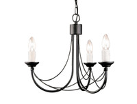 Elstead CB3 Carisbrooke 3 Light Black Chandelier