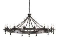 Elstead WR12  Warwick 12 Light Graphite Black Chandelier