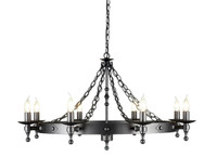 Elstead WR8  Warwick 8 Light Graphite Black Chandelier