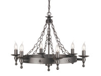 Elstead WR6  Warwick 6 Light Graphite Black Chandelier