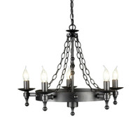 Elstead WR5  Warwick 5 Light Graphite Chandelier
