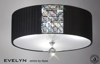 Diyas IL31172/BL Evelyn Flush Black