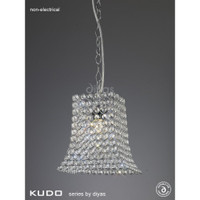 Diyas IL60019 Kudo Curved Trapezium Non-Electric Shade Chrome/Crystal