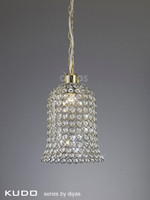 Diyas IL60031 Kudo Bell Non-Electric Shade Antique Brass/Crystal