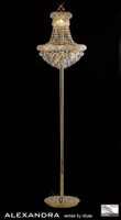 Diyas IL32104 Alexandra 8 Light Crystal Floor Light French Gold