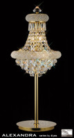 Diyas IL32103 Alexandra 6 Light Crystal Table Lamp French Gold