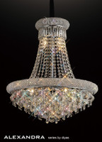 Diyas IL31451 Alaxandra 13 Light Polished Chrome Ceiling Pendant