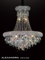 Diyas IL31450 Alaxandra 9 Light Polished Chrome Ceiling Pendant