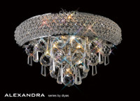 Diyas IL31440 Alexandra 1 Light Crystal Wall Light Polished Chrome
