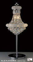 Diyas IL31443 Alexandra 6 Light Crystal Table Lamp Polished Chrome