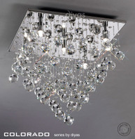 Diyas IL30788 Colorado 5 Light Chrome/Crystal Ceiling Light