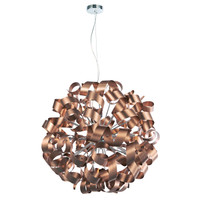 35956 MEDUSA 12 Light Brushed Satin Copper Pendant