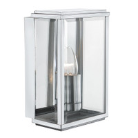 Searchlight 8204SS Satin Silver Outdoor Wall Lantern