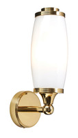 Elstead BATH/ELIOT1 PB Eliot Wall Light Polished Brass