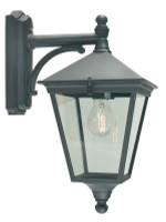 E1516076 Black Outdoor Wall Lantern