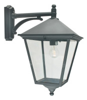 E1516127 Black Large Outdoor Wall Lantern