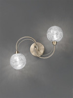 4123282  2 Light Ceiling Light or Wall Light Antique Brass