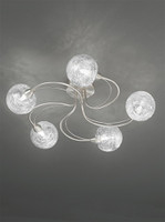 Franklite FL2327/5 Gyro 5 Light Ceiling Light Satin Nickel